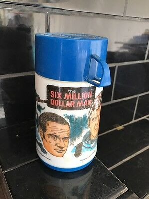 THE SIX MILLION DILLAR MAN Thermal Bottle Aladdin Vintage Thermos flask