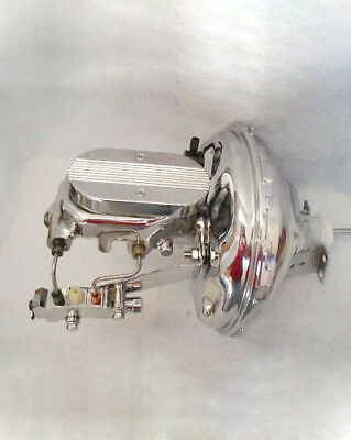 "1964-72 GM A-Body 11/"" Show Chrome Power Brake Booster w Milled Master Cylinder"