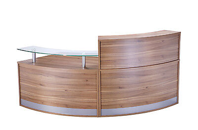 Curved Radius Reception Counter / Desk | 2 Section LHR,FHR | Various Colours