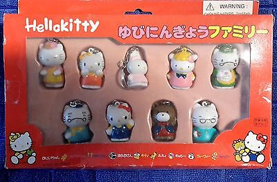Hello Kitty Packet Of 9  Different Key Rings - New