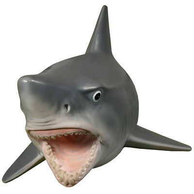 Great White Shark w/ Teeth Attack Plaque Wall Mounted Hanging Display Head Mount