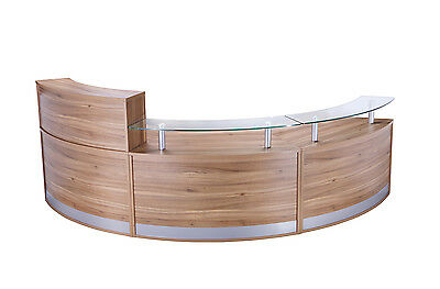 Curved Radius Reception Counter / Desk | 3 Section FHR,LHR,LHR | Various Colours