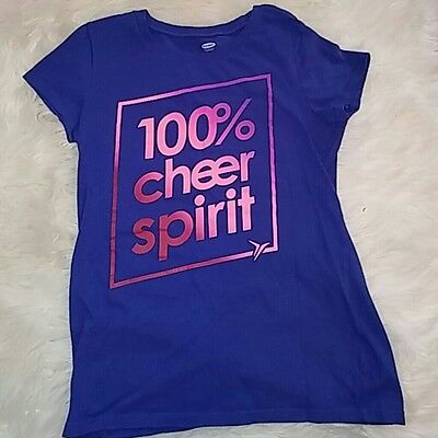 Old Navy Size L 10-12 Girls Cheer Tee Shirt