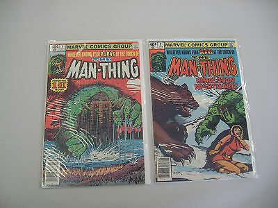 Marvel Comics The Man-Thing #1 and #2