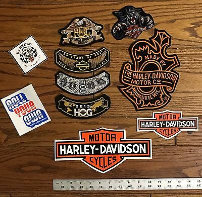 Lot Of Harley Davidson Patches and Stickers