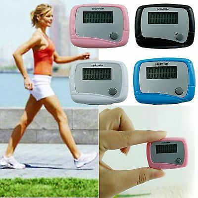 CH Useful Lcd Pedometer Step Walking Distance Counter Jogging Running