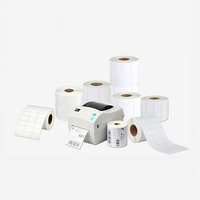 Blank Direct Thermal Shipping Label Roll White Self Adhesive Multi Purpose Label