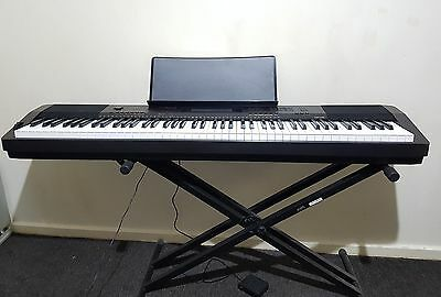 Casio CDP230BK 88 Key Digital Piano + Sustain Pedal + Icon XKSS01 Keyboard Stand