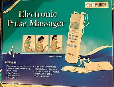 Electronic Tens Unit Pulse Massager Electric Muscle Stimulator Pain Therapy