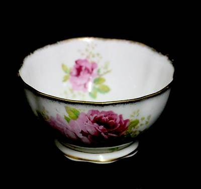 Vintage Royal Albert American Beauty pink rose large sugar bowl