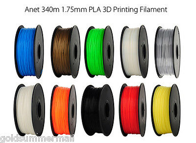 Anet 340m 1.75mm PLA 3D Printing Filament Material for DIY Project 10 Colors
