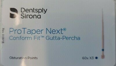 Protaper Next X3 Gutta Percha Points Dentsply Tulsa Dental Root Canal Endo