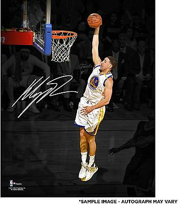Klay Thompson GS Warriors Signed 11x14 2017 NBA Finals Champs Spotlight Photo