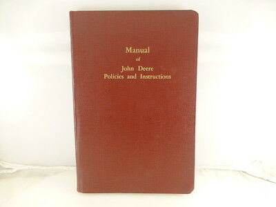 Rare 1938 John Deere Kansas City Manual of Policies and Instructions