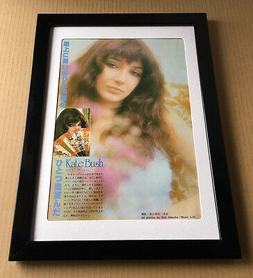 1978 Kate Bush vintage JAPAN magazine photo pinup / mini poster FRAMED b9m