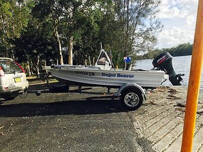 Quintrex sportsman, side console fishing boat,mercury motor & trailer