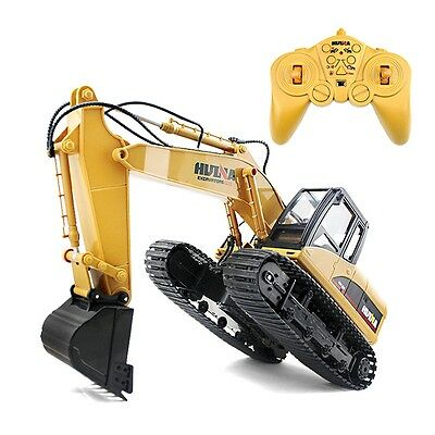 HUINA 1:14 2.4G 15CH RC Excavator Truck Child Construction Digger boys xmas Toy