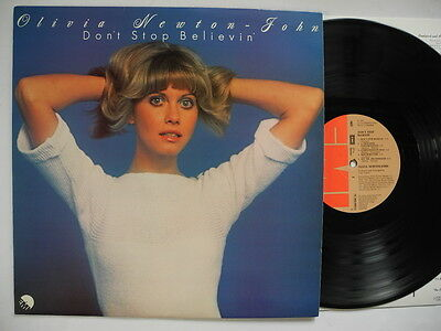 OLIVIA NEWTON-JOHN Don't Stop Believin' LP 1976 Sweden NM Laminated  Fan Club ad