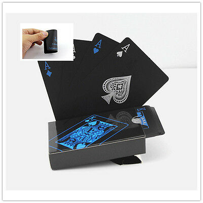 Black Plastic PVC Poker Magic Playing Cards High Quality Waterproof Table Game