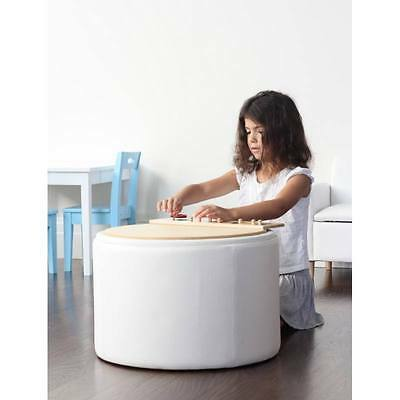 New Kids Childrens Toddler White Toy Storage Chest Box Activity Table Chair