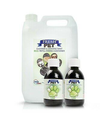 2 x 5L FRESH PET URINE SMELL ODOUR REMOVER  - LIME - TRADE Chem