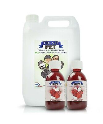 2 x 5L FRESH PET URINE SMELL ODOUR REMOVER  - STRAWBERRY- TRADE Chem