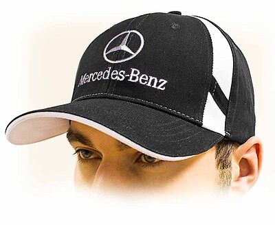 6f40a5cb Mercedes-Benz baseball Cap Hat, black. Adjustable size with embroidered logo !