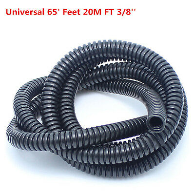 65' FT 20m 3/8'' Diameter Car Audio Split Loom Wire Flexible Tubing Conduit Hose