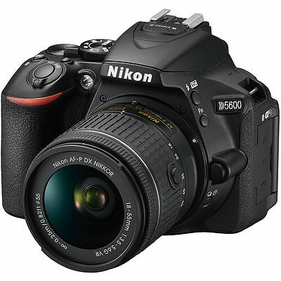 Nikon D5600 Black + AF-P DX 18-55mm f/3.5-5.6 G VR Lens Kit 18-55 24.2MP Full HD