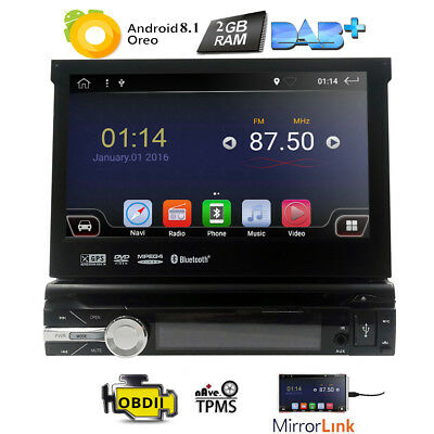 "7"" 1-Din Car Detachable GPS Video DVD Player Android 6.0 1080P Ram 1G Rom 16G E"