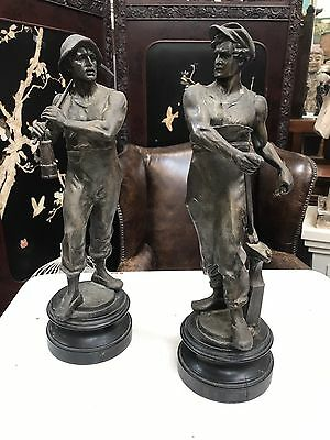 Original Pair Of Large Edwardian Figures. Open To Offers.