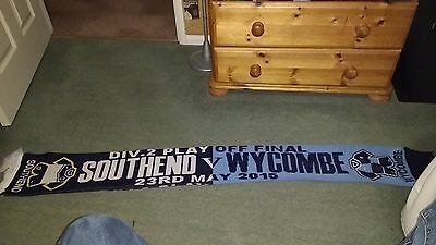 Southend United v Wycombe Wanderers - Playoff Final 2015 Match Scarf