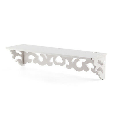 Set of 2  White Shelves Cut Out Design Wall Shelf Shabby Chic Filigree Home R DA