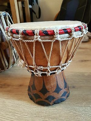 African wood and goat skin Djembe bongo hand drum