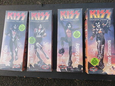 Complete Set Of Kiss Destroyer Dolls. New. Polar Lights.