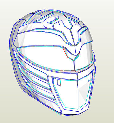 DIY White Ranger Helmet Pepakura kit Power Rangers Cosplay FREE POSTAGE
