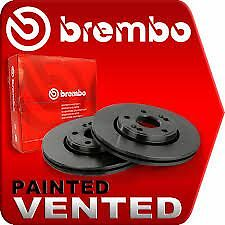 Bmw E46 Genuine Brembo Front Painted Brake Discs 300Mm And Pads 02/1998->