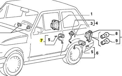 Fiat 126 BIS Rear Reverse, Back up Lamp with Clear Lens, New & Genuine 7537893
