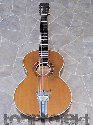 gorgeous fine old all solid MEINEL & HEROLD birdseye PARLOR Jazz GUITAR Germany