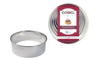 GOBEL Plain Cutters 35-100mm  Stainless Steel - Set of 8
