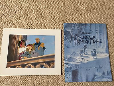 The Hunchback of Notre Dame Exclusive Commemorative Lithograph 1997 & envelope