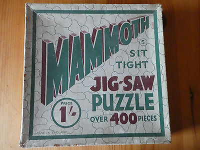Vintage  Mammoth Sit Tight Jig-saw Puzzle 1/- Made in England