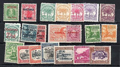 Western Samoa unchecked mint (MH) collection WS4989