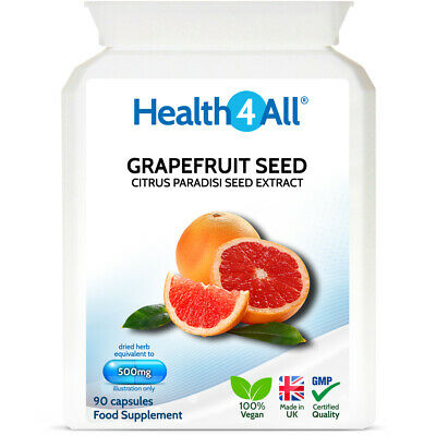 Health4All Grapefruit Seed Extract (GSE) 500mg 90 Capsules | CANDIDA DETOX