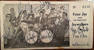 Peter Jay And The Jaywalkers Full Band Hand Signed Inc Pete Buzz Miller And Jay