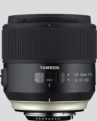 Tamron 35mm SP f1.8 DI VC USD lens for Nikon F as new A+++ / excellent