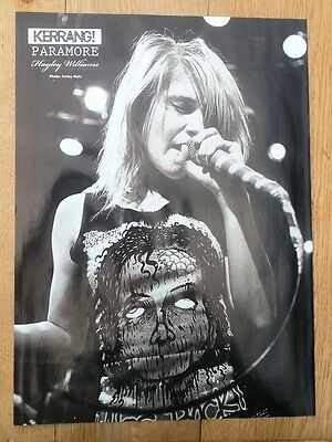 Hayley Williams PARAMORE b/w magazine PHOTO/Poster/clipping 11x8 inches