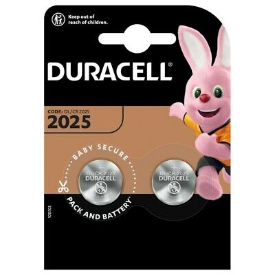 2x CR2025 Lithium Knopfzelle 3V DL2025 DURACELL 1x Doppelblister