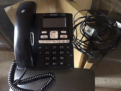 BT Paragon 650 Corded Telephone Answering Machine (Landline Office Desk Phone)