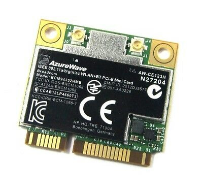BCM94352HMB AzureWave Broadcom 802.11a/b/g/n/ac WLAN + BT4.0 PCI-E MINI CARD